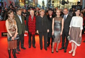 "Angela Merkel at premiere of ""Katyń"" in Berlin"